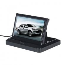 Сгъваем 5 инчов TFT LCD монитор за камера за задно виждане