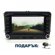 Навигация двоен дин за VW SEAT SKODA VW027VN GPS, DVD, WinCE, 7  инча