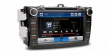 Навигация двоен дин за Toyota Corolla 2007-2011, PF81CLTS GPS,WinCE,DVD, 8 инча