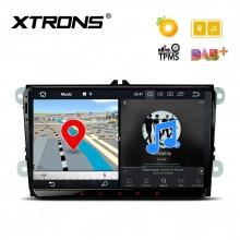 Навигация двоен дин за VW, SEAT, SKODA с Android 8.0, PE98MTVPL, WiFi, GPS, 9 инча