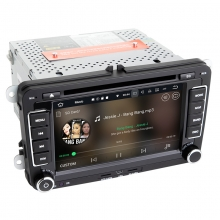 Навигация двоен дин VW SEAT SKODA с Android 8.1 VW0702A81, GPS, WiFi, DVD, 7 инча