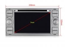 Специализирана мултимедия за FORD Focus, Fiesta, Fusion, с Android 10 F4405H GPS, WiFi,DVD, 7 инча