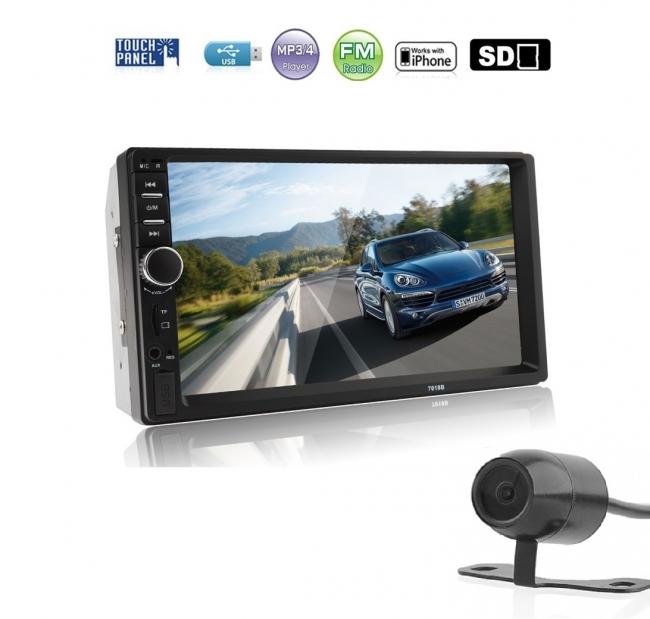Универсална мултимедия за кола 7 инча с MP3, MP5, Радио, USB
