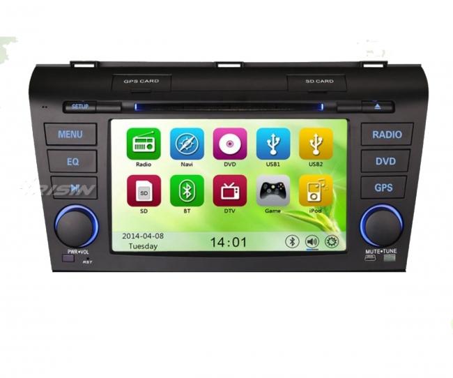 Навигация двоен дин за Mazda 3 ES7638, WinCE, GPS, DVD, 7 инча