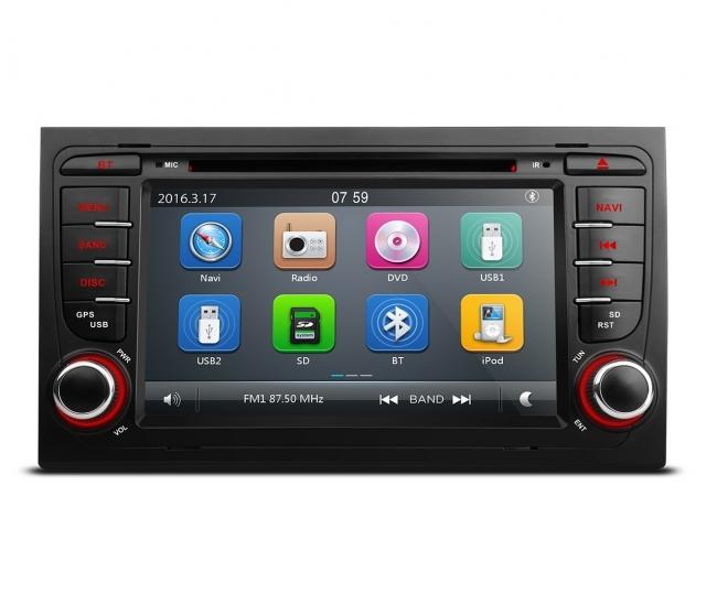 Навигация двоен дин за AUDI A4 AU0702W GPS, DVD, WinCE, 7 инча