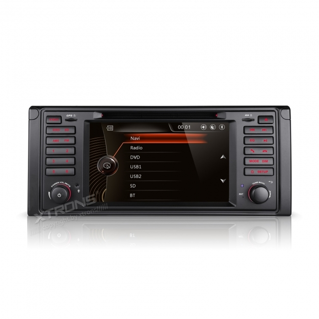 Навигация двоен дин за BMW Е39 BM0705W GPS, DVD, WinCE, 7 инча