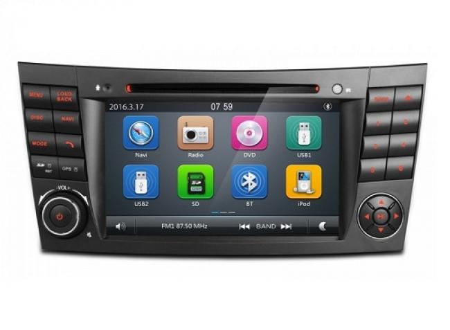 Навигация двоен дин за Mercedes W211 BZ0701W GPS, DVD, WinCE, 7 инча