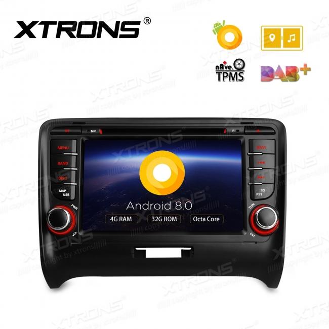 Навигация двоен дин за AUDI TT MK2(06-12) с Android 8.0, PB78ATTP, WiFi, GPS, 7 инча