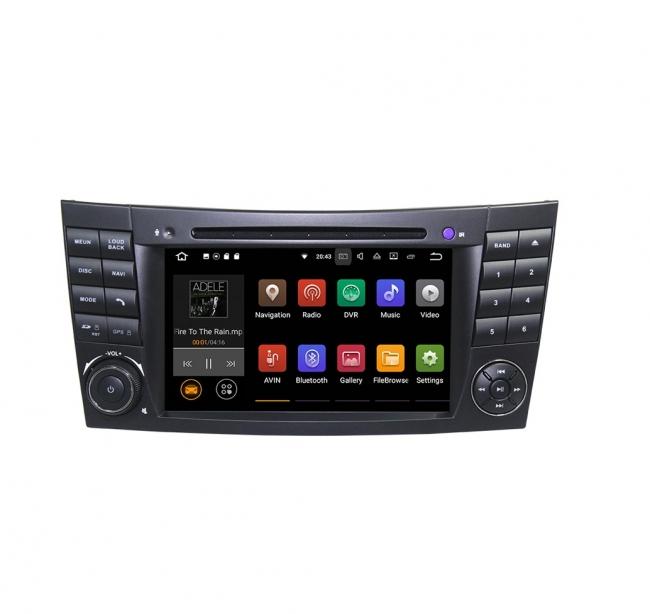 Вградена навигация двоен дин за Mercedes W211 W219 с Android 9.0 BZ0701A9 , GPS, DVD, 7 инча
