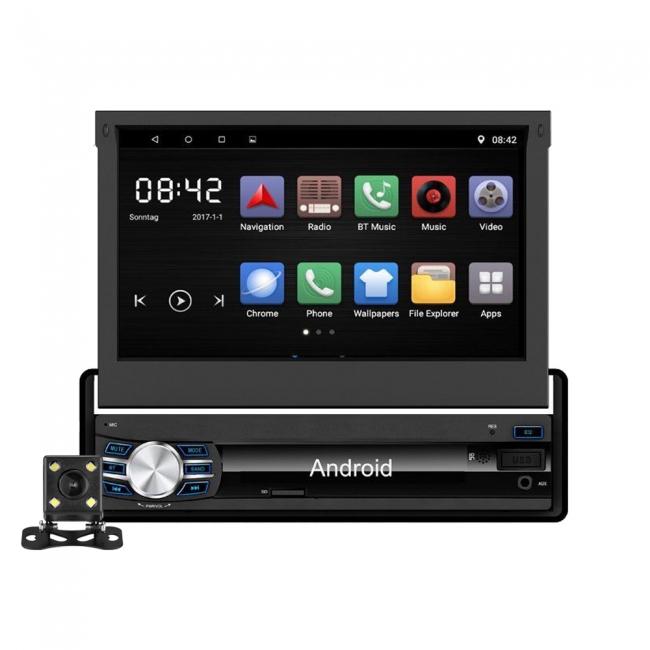 Универсален единичен дин с Android 6.0 AT712 с WiFi, GPS, 7 инча