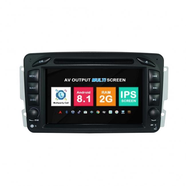 Навигация двоен дин Mercedes W203 W209 W163 W639 с Android 8.1 BZ0702A81, GPS, WiFi, DVD, 7 инча