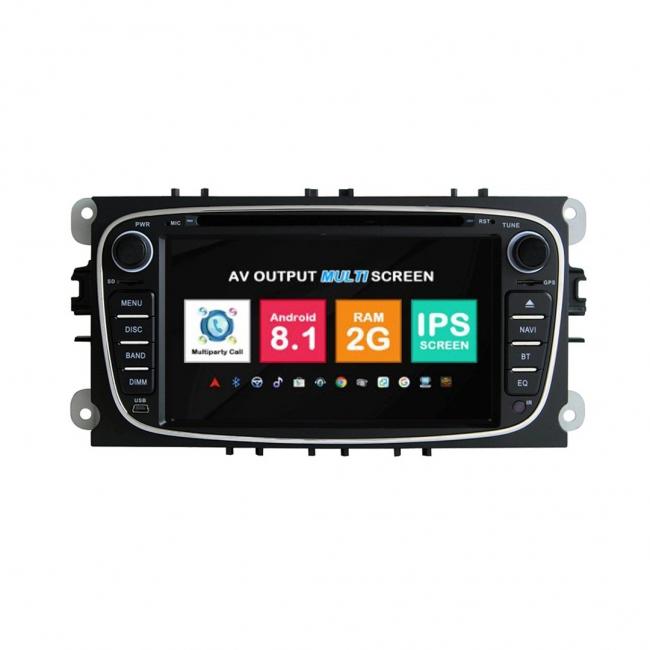 Навигация двоен дин Ford Mondeo Focus Galaxy с Android 8.1 FO0701A81, GPS, WiFi, DVD, 7 инча