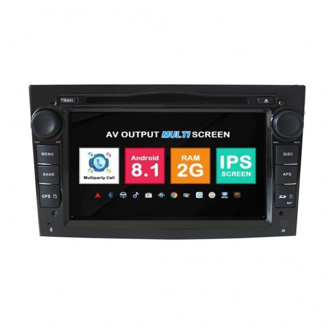 Навигация двоен дин Opel Astra Vectra Meriva с Android 8.1 OP0701A81, GPS, WiFi, DVD, 7 инча