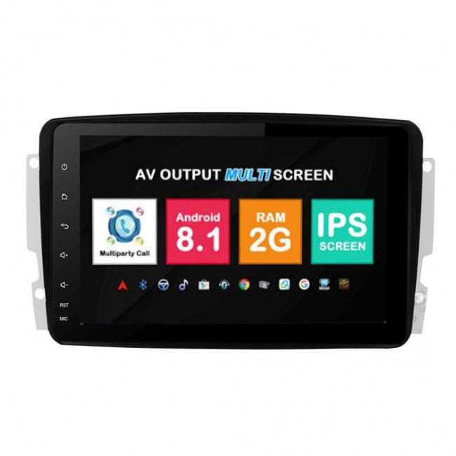 Навигация двоен дин Mercedes W203 W209 W163 с Android 8.1 BZ0813A81, GPS, WiFi, DVD, 8 инча