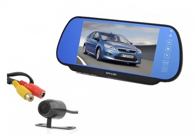Огледало с вграден 7 инчов монитор и камера за задно виждане