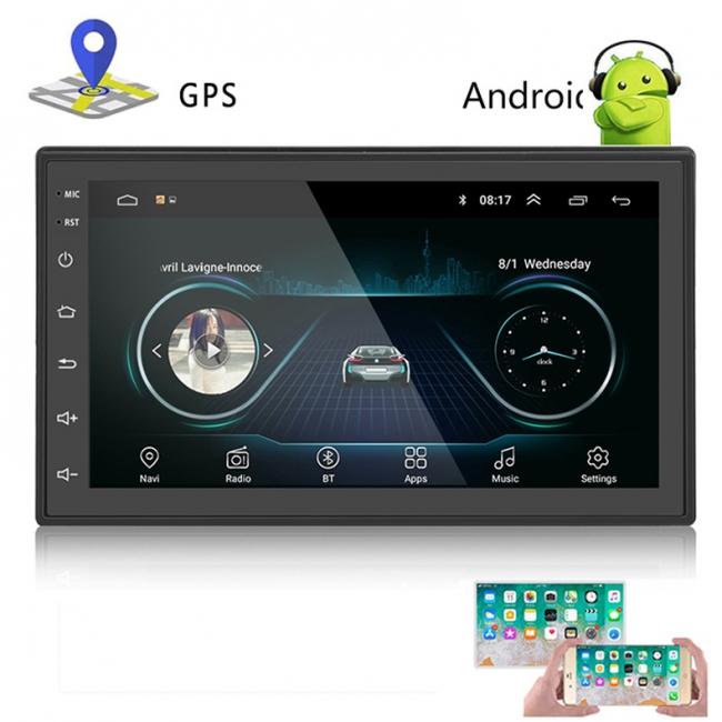 Универсална навигация двоен дин с Android, AT 1018, GPS, WiFi, 7 инча