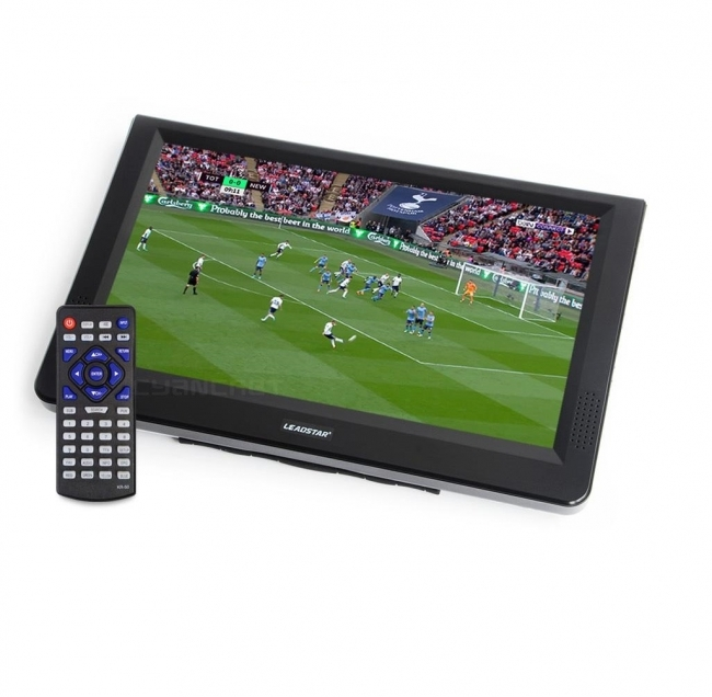 LEADSTAR портативен телевизор с цифров тунер DVB-T2 D12 12 инча HDMI, ATV, PVR