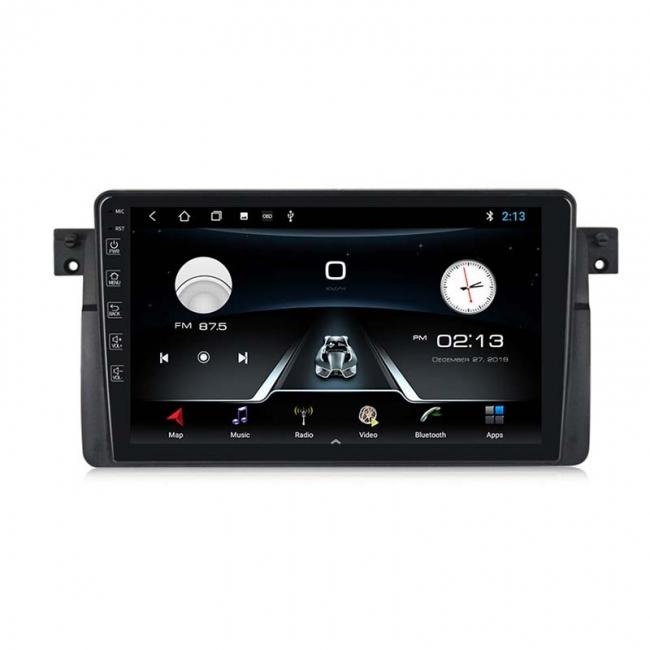 Двоен дин навигация за BMW E46, MTK8227A, 1GB, Android 10, 9 инча, GPS