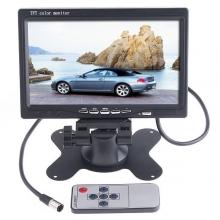 TFT LCD монитор за връзка с камера за паркиране 7 инча, DVD, VCR, CCTV с 2 видео входа