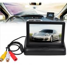 Сгъваем TFT LCD монитор за камера за задно виждане 4.3 инча