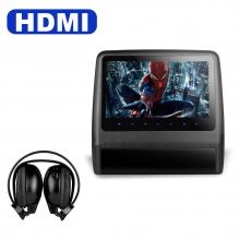 9 инча Подглавник за кола HD9LXBlack СЪС СЛУШАЛКИ HD TFT Монитор, HDMI, DVD, USB, SD