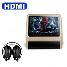 9 инча Подглавник за кола HD9LXCream СЪС СЛУШАЛКИ HD TFT Монитор, HDMI, DVD, USB