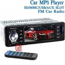 Аудио плеър за кола с дисплей един дин за клипове, филми, MP3, MP4, MP5