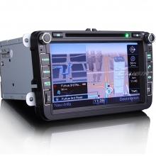 Двоен дин навигация за SEAT Altea, Toledo, Leon, WinCE, GPS, DVD, 8 инча ES8015V
