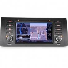 Навигация двоен дин ES7153B за BMW 5 Серия E39 E53 M5, GPS, DVD, WinCE, 7 инча