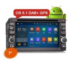 Навигация двоен дин за Nissan ES3646U с Android + Кабел за Nissan GPS, 3G, 7 инча