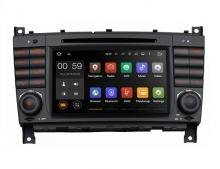 Навигация двоен дин за Mercedes Benz W209, W203 PF75M209A GPS, DVD, Android, 7 инча
