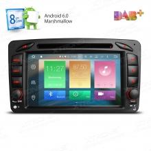 Double din навигация за Mercedes W203 W209 W463 с Android 6.0 PB76M203AP, GPS, WiFi, 7 инча