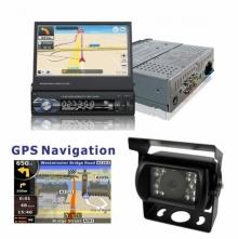 Единичен дин с навигация за камион за вграждане AT179601 MP5, GPS, Bluetooth, 7 инча