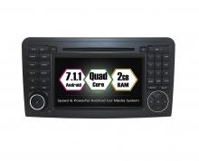 Вградена навигация двоен дин за Mercedes W164 с Android 7.1 BZ0705 , GPS, DVD, 7 инча