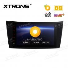 Навигация двоен дин за Mercedes W211 W219 с Android 8.0, PE88M211PL, WiFi, GPS, 8 инча