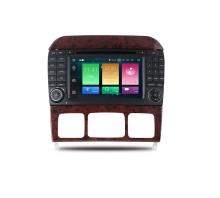 Навигация двоен дин за Mercedes W220 W215 с Android 8.0, MKD-M703, WiFi, GPS, 7 инча