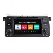Навигация двоен дин BMW E46 M3 ROVER с Android 8.1 BM0702A81, GPS, WiFi, DVD, 7 инча