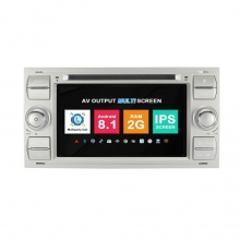 Навигация двоен дин Ford Fusion Galaxy Transit Connect с Android 8.1 FO0704A81, GPS, WiFi, DVD, 7 ин