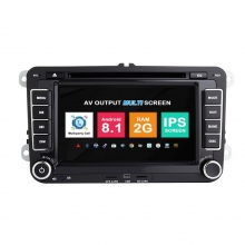 Навигация двоен дин VW SEAT SKODA с Android 8.1 VW0702A81, GPS, WiFi, DVD, 7 инча