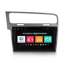 Навигация двоен дин VW Golf 7 с Android 8.1 VW1007A81, GPS, WiFi, DVD, 10.1 инча