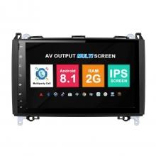 Навигация двоен дин Mercedes W169 W245 W639 W315 с Android 8.1 BZ0907A81, GPS, WiFi, DVD, 9 инча