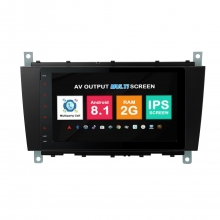 Навигация двоен дин Mercedes W203 W209 W219 с Android 8.1 BZ0814A81, GPS, WiFi, DVD, 8 инча