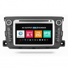 Навигация двоен дин Mercedes Smart Fortwo с Android 8.1 BZ0708A81, GPS, WiFi, DVD, 7 инча