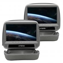 Подглавници с монитор за кола HD923Grey с DVD, HDMI вход, 9 инча + КАЛЪФ