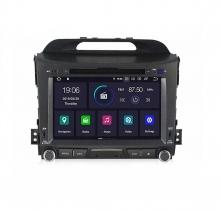 Двоен дин навигация за KIA SPORTAGE (11-15) с Android 9.0  K4002H GPS, WiFi,DVD, 8 инча