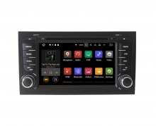 Вградена навигация двоен дин за Audi A4 с Android 9.0 AU0702A9 , GPS, DVD, 7 инча