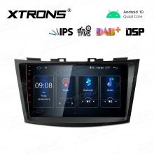 Навигация двоен дин за Suzuki Swift, Ertiga PST90SZK с Android 10, GPS, WiFi, 9 инча