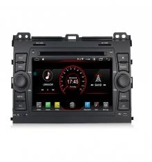 Мултимедиен двоен дин за TOYOTA Land Cruiser 120, Prado T7410H GPS, ANDROID 10, WiFi, DVD, 7 инча